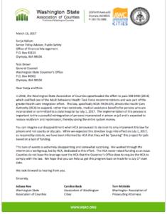 WSAC Letter re HCA 6430