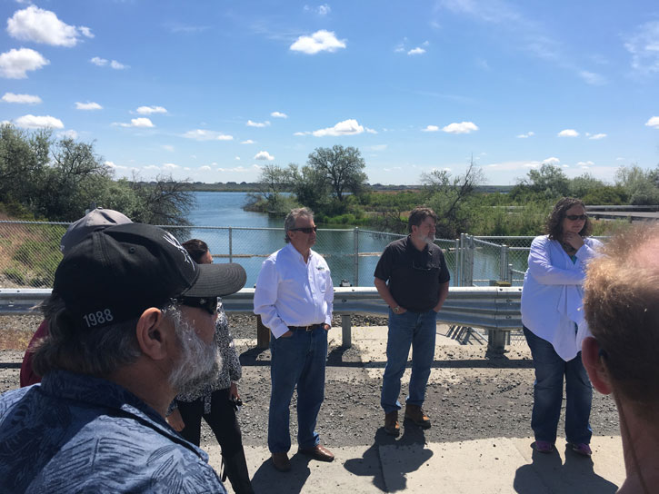 Yakima County Commissioner Leita and Adams County Commissioner John Marshall, join other members of the Columbia River Caucus at the Moses Lake Dam.
