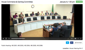 2018 Public Hearing in the Commerce and Gaming Committee