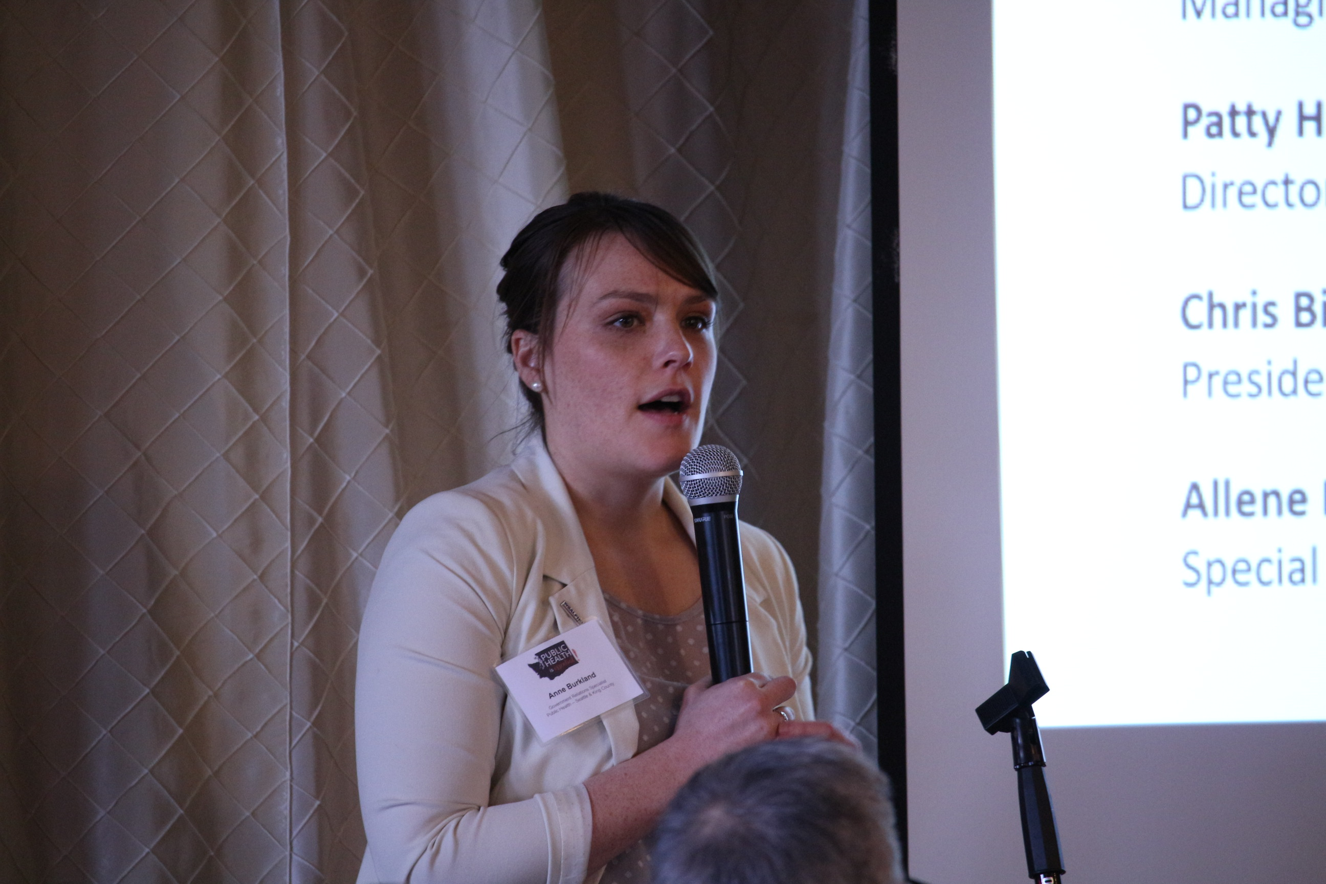 Event co-planner Anne Burkland (Public Health Seattle-King County)
